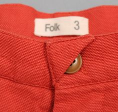 Great detail on Folk Pants