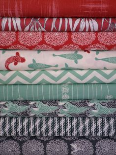 Fabricworm Custom Bundle, Just Keep Swimming in FAT QUARTERS 9 Total