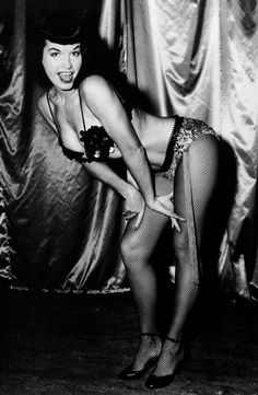 bettie page fishnet stockings