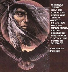 Prayer to great spirit.