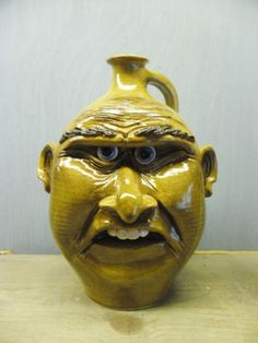 Pottery Face Jug By Ryan Mckay Seagrove N.C.