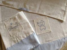 """Asciugamanini neonato in """"tela pupo"""""""