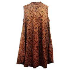 casual batik dress
