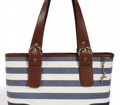 Nautical Stripes And Salty Sea Birds – Shoulder Bag