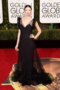 Caitriona Balfe in Alexander McQueen at the Golden Globes