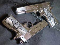 Guns & Weapons: Colt Find our speedloader now… Colt M1911, Colt 45, Guns Dont Kill People, 1911 Pistol, Custom Guns, Custom 1911, Cool Guns, Awesome Guns, Fire Powers