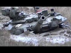 Русский танк Т-90 (1000 л.с.) застрял в грязи - Russian tank T-90 (1000H...