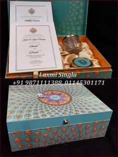 Gift packing material by Laxmi Singla Marriage Invitation Wordings, Wedding Invitation Wording, Wedding Card Design, Wedding Cards, Decorative Boxes, App, Gifts, Wedding Ecards, Presents