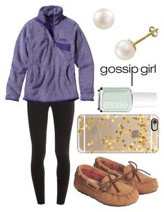 """""""I AM NOT OKAY"""" by emmacaseyyyy ❤ liked on Polyvore featuring Splendid, Patagonia, PearLustre by Imperial, Casetify and Essie"""