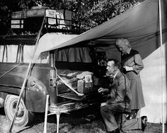 pictures of vintage camp grounds | Vintage car camping | Flickr - Photo Sharing!