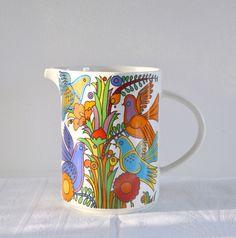 Pichet Acapulco villeroy et Boch, vintage, porcelaine, china de la boutique atelierdelachoisille sur Etsy
