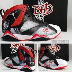 Custom #Bad25 Air Jordans, exclusively created for Spike Lee.