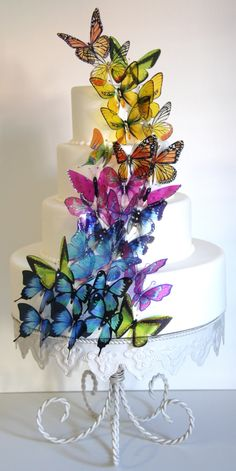 The Cake That Ate Paris || Butterfly cake
