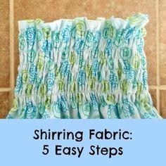 Shirring fabric: 5 easy steps!