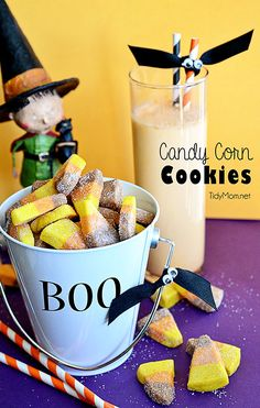 Easy Candy Corn Butter Cookies at TidyMom.net