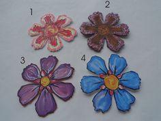 Fiore grandi in crepla- fatto e dipinto a mano, by Laboratorio Elisa Villalba, 0,35€ su misshobby.com