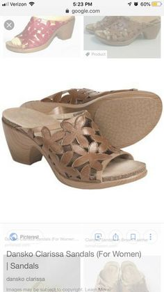 b6502114bbfa35 Dansko Womens Shoes Clarissa Sandals Slip On Brown Floral Heels Sz 39 8.5 9