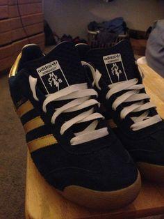 Mark McNairy x Adidas - RoMcNasty Shoes (Blue/Gold)