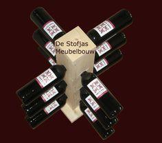 Wijnrek wijntoren wijnboom van vurenhout