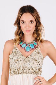 Caicos Necklace - Kaneli Nomad Boutique boho  chic, bohemian, gypsy inspired, hippy chic,