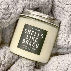 C&E Smells Like Draco Soy Wax Candle – C & E Craft Co Soy Wax Candles, Candle Wax, Draco Malfoy, Harry Potter Candles, Harry Potter Merchandise, E Craft, Slytherin House, Jar, Gifts