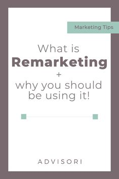 Do you know what Remarketing is? Or why you NEED to be using it in your business? Small Business Marketing, Marketing Plan, Sales And Marketing, Marketing Tools, Content Marketing, Business Tips, Social Media Marketing, Online Marketing, Affiliate Marketing