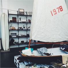 Sailboats and surfboards to accompany the inspiring products at @alchemyworks.