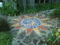 Image result for mosaic garden paths