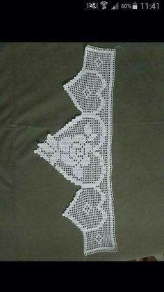 Crochet Lace Edging, Crochet Borders, Crochet Stitches Patterns, Sweater Knitting Patterns, Filet Crochet, Crochet Doilies, Crochet Flowers, Easy Crochet, Crochet Hooks
