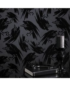 Raven wallpaper by Barbara Hulanicki for Graham and Brown