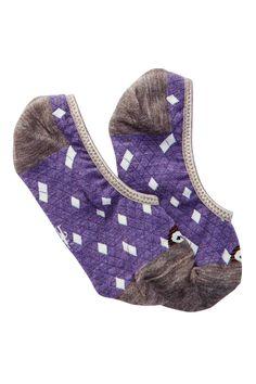 Charley Harper Owl No Show Socks
