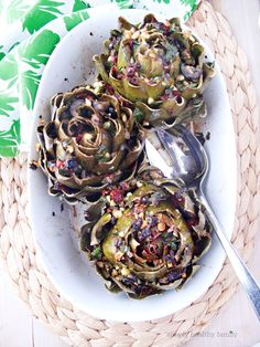 Simply Healthy Family: Mediterranean Stuffed Grilled Artichokes