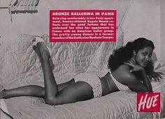 Bronze Ballerina in Paris (Marpessa Dawn) - Hue Magazine, May, 1956 Vintage Black Glamour, Vintage Beauty, Vintage Hair, Vintage Pins, Marpessa Dawn, Black Orpheus, Black Pin Up, Phylicia Rashad, Non Blondes