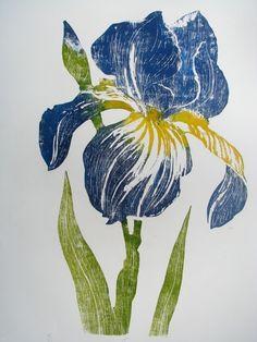 Another iris woodcut