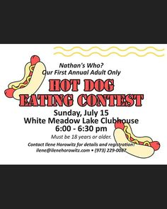 Nathans who? WML First Annual Hot Dog Eating Contest. Dog Eating, Adults Only, Hot Dogs, Day, Instagram