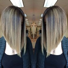 Captivating Inverted Bob Hairstyles That Can Keep You Out of Trouble. Inverted bob hairstyles have become a new trend nowadays. Cute Bob Hairstyles, Lob Hairstyle, Hairstyles 2018, Inverted Bob Hairstyles, Long Bob Haircuts, Trendy Haircuts, Hair Trends, Hair Inspiration, Short Hair Styles
