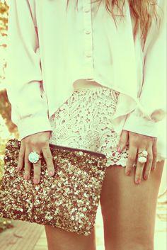 glitter + lace