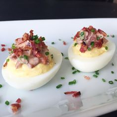 Double Decker Deviled Eggs For Dad's Day (w/Woodbridge Wine Cue Sauce)
