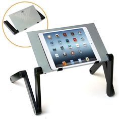 AmazonSmile: QuickLIFT Tablet Aluminum Alloy Stand for Mounting on Desk / Bed…
