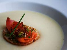Receita Entrada : Creme de couve-flor com salmão defumado e ovas de salmão de Luciano Lunkes