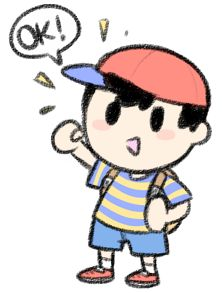 "*FUNFACT* In one of his taunts in Dairantou!/Smash, Ness nods and says ""Okay!"". That's reference to Itoi's saying in MOTHER 2 and 3 when you confirm the names: ""OK desu ka?"" (TRANSLATION: ""Is that OK?"")"