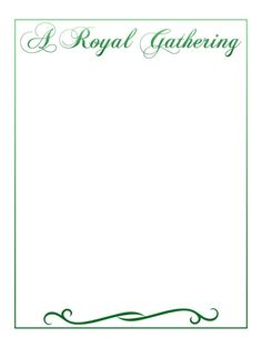 Journal Card - A Royal Gathering - Style 3 - green - 3x4 photo dis_408a_a_royal_gathering_style3_green.jpg