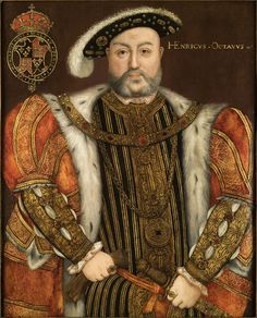King Henry VIII painted by Hans Holbein The Younger in 1543.