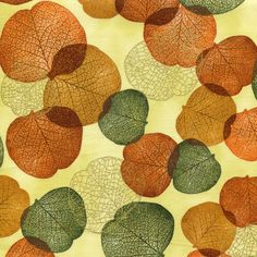 Metallic Jewel Autumn Leaves - Shades of the Season 6 - Robert Kaufman - 1 yard - More Available by BywaterFabric on Etsy