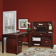 Corner Desk, Modern Home Office, Carlton L-Desk Set, SET