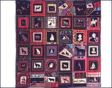 Quilt made by Pocahontas Virginia Gay, a descendant of Pocahontas and John Rolfe