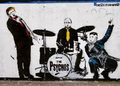 The Psychos by Loretto. Street art seen in London. 2018