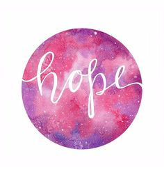 Hope- Love the colors of this beautiful watercolour Galaxy