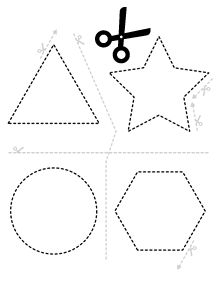 Worksheets 528328600028732797 - Scissors and shapes Source by Preschool Activity Sheets, Preschool Writing, Preschool Learning, Kindergarten Worksheets, Toddler Preschool, Preschool Activities, Teaching Kids, Dementia Activities, Kids Worksheets