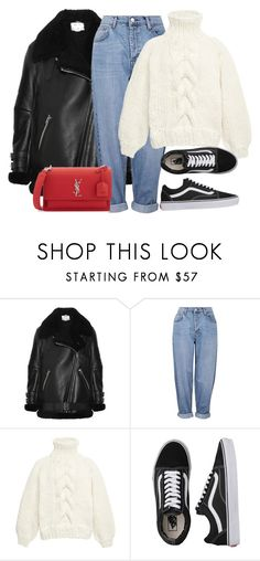 """Untitled #4915"" by ericacavaco12 ❤ liked on Polyvore featuring Acne Studios, Topshop, I Love Mr. Mittens, Vans and Yves Saint Laurent"
